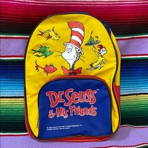 Dr. Seuss & his Friends kids backpack childrens